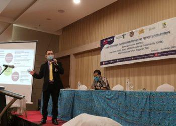 Agung Setiawan SE., M.MPar. Menjadi Narasumber tentang Sosialisasi CHSE Hibah Pariwisata tahun anggaran 2020 Di hotel-hotel kota Cirebon.